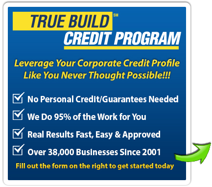 Business credit the truebuild corporate credit program reheart Gallery